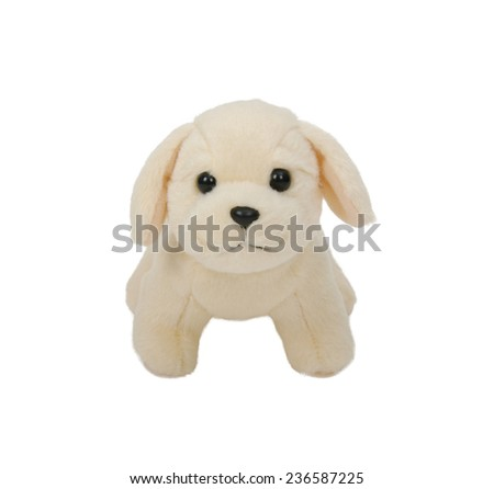 puppy toy isolated on white background  - stock photo