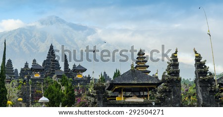 Pura Besakih. largest hindu temple of Bali, Indonesia - stock photo