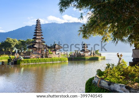 Pura Ulun Danu Bratan. Bedugul, Bali, Indonesia. - stock photo