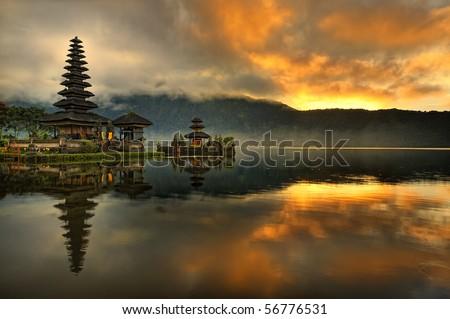 Pura Ulun Danu Bratan Water Temple - stock photo