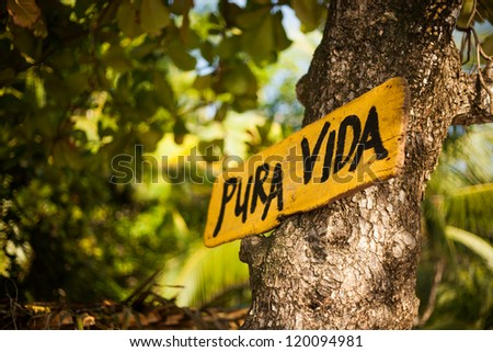 Pura Vida sign - stock photo