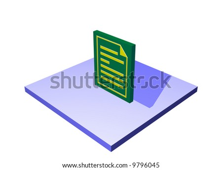 Purchase Order, a logistics supply chain symbol from a series set - stock photo