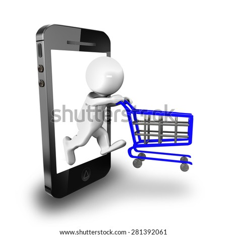 purchase, sale and management cell, represented in 3d - stock photo