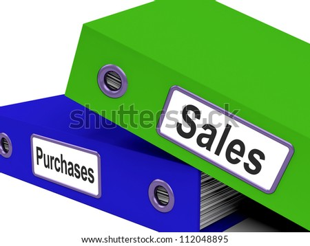 Purchases And Sales Files Contains Records Of Transactions