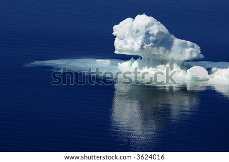 Pure Antarctic ice - stock photo