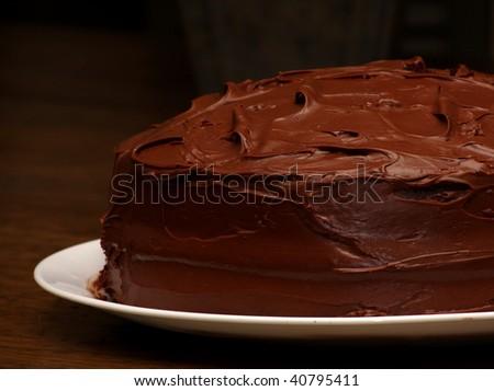 Pure chocolate cake - stock photo
