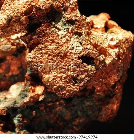 pure copper - stock photo