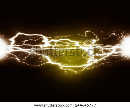 Pure energy and electricity with bright light symbolizing power - stock photo