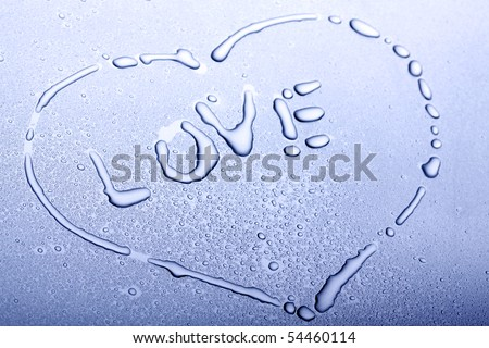 Pure love made by water - stock photo