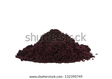 Pure organic and raw acai berry powder.