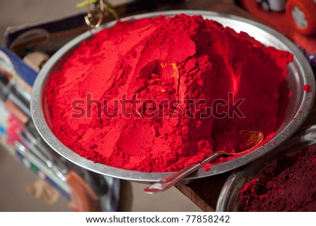 Pure red pigment - stock photo