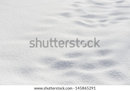 Pure snow texture - stock photo