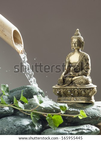 pure water and green religion - stock photo