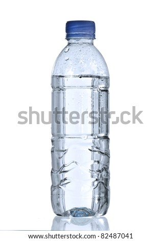 pure water in bottle for healthy life - stock photo