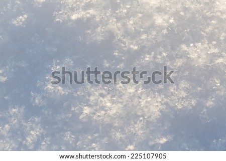Pure white snow texture - cold winter shot - stock photo