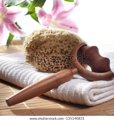 purifying relaxing still life - stock photo