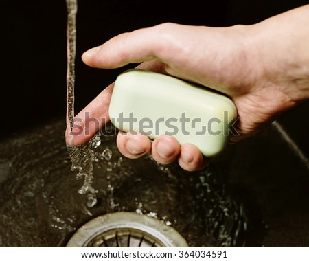 purity, hands, hygiene, soap, foam, sink, water, bacteria, anti-bacteria