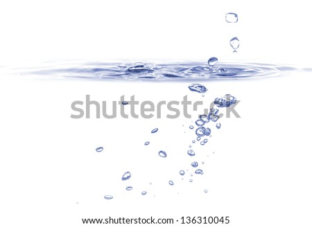 purity water splashing wave - stock photo