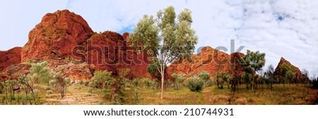 Purnululu National Park  in the Kimberley region of Western Australia - stock photo