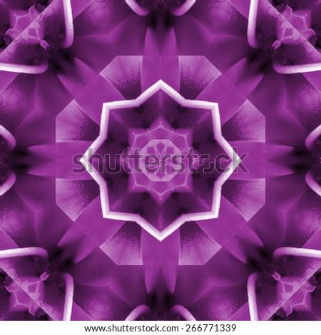 purple abstract mandala design. beautiful round background - stock photo