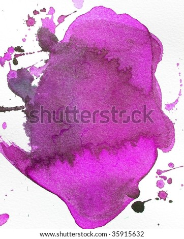 purple abstract paint background splash - stock photo