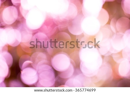 Purple abstract with lights bokeh