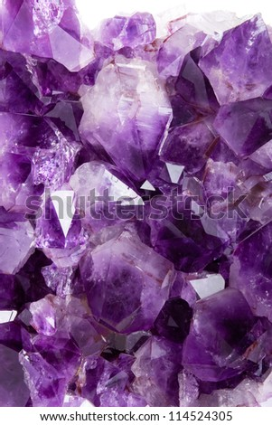 Purple amethyst background - stock photo
