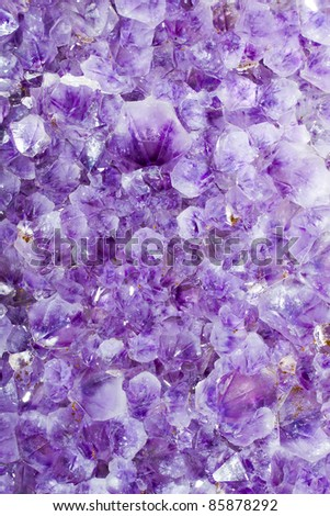 Purple amethyst crystals close up. See my portfolio for more - stock photo