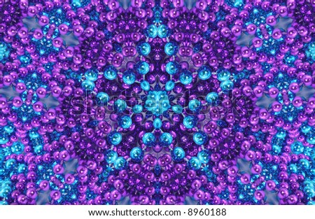 Purple and Blue Abstract Beaded Background - stock photo