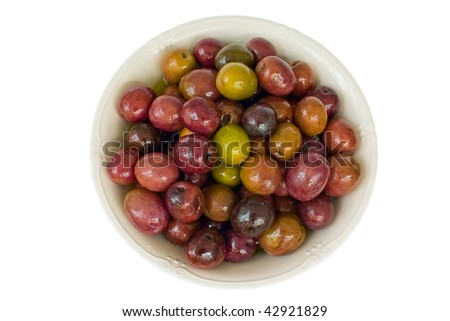 purple and green olives