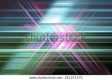 Purple and green speed blur cross - stock photo
