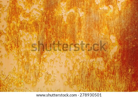 Purple and orange rusty old textured wall - stock photo