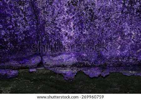 Purple background, Created technique from Iron surface rust and wall concrete - stock photo