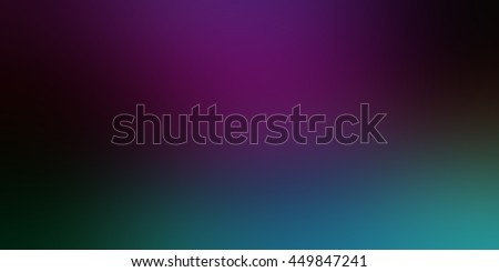purple background with teal blue green blur border - stock photo