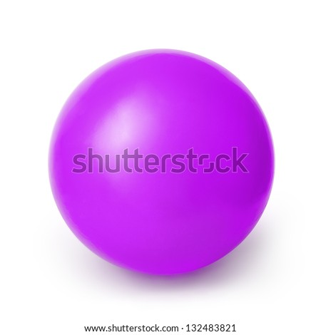 Purple ball isolated on a White background with clipping path - stock photo