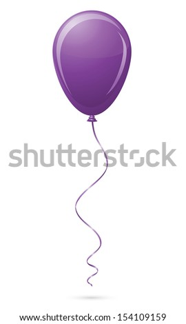 purple balloon illustration isolated on white background