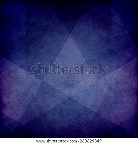 purple blue background paper with triangle abstract shapes layered with grunge texture fading for vintage style design - stock photo