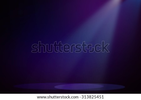 Purple & Blue stage background - stock photo