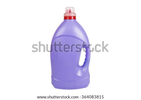 purple bottle is insulated on white background  - stock photo