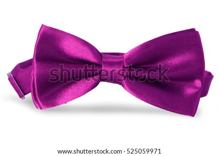 Purple bow Tie, isolated on white background