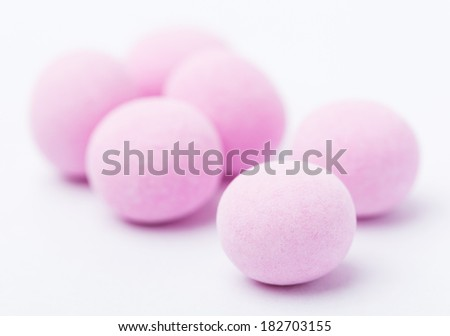 Purple bubble candy - stock photo