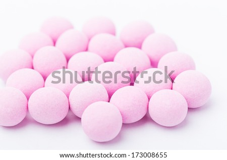 Purple bubblegum isolated on white - stock photo