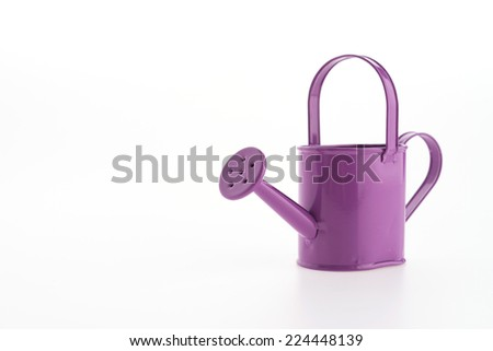 Purple can watering isolated on white background