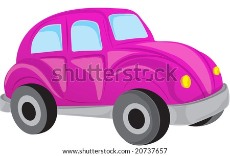 purple car with an isolated white background