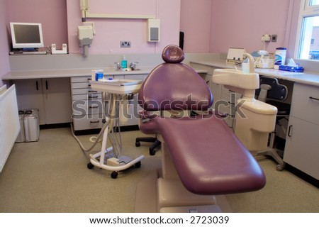 Purple Chair in Busy Dentists Surgery