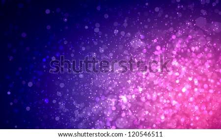 Purple colour bokeh abstract light background. Illustration - stock photo