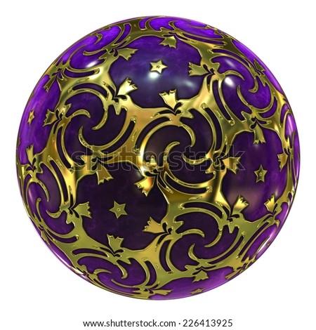 Purple Crystal Ball / Ornament - stock photo