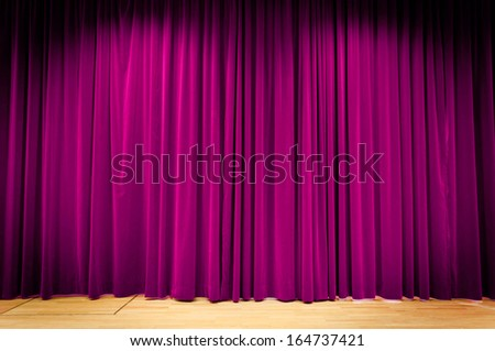 Purple Curtain - stock photo