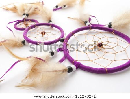 Purple dreamcatcher - stock photo