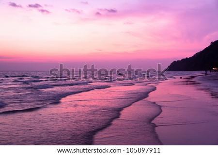 Purple Dusk - stock photo
